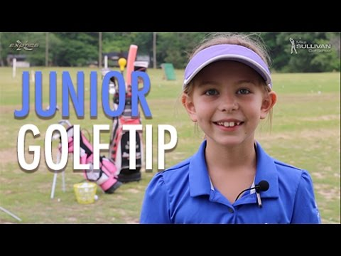 Junior Golf Tip: Swing Path Drill with Mike Sullivan and Kadyn