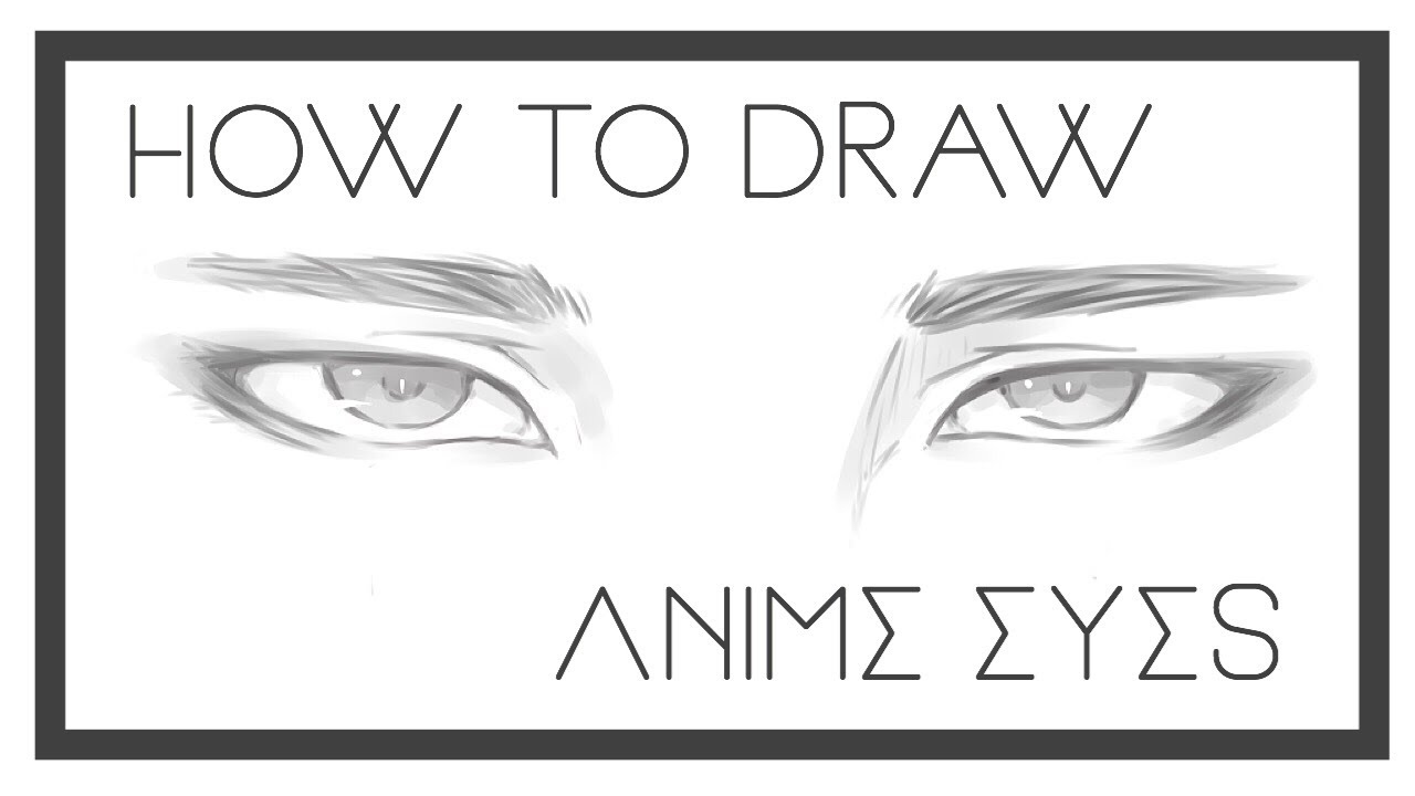 How To Draw Anime Boy Eyes Part 1 Youtube