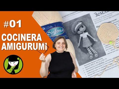 COCINERA AMIGURUMI 01 inicio del cocinero tejido a crochet