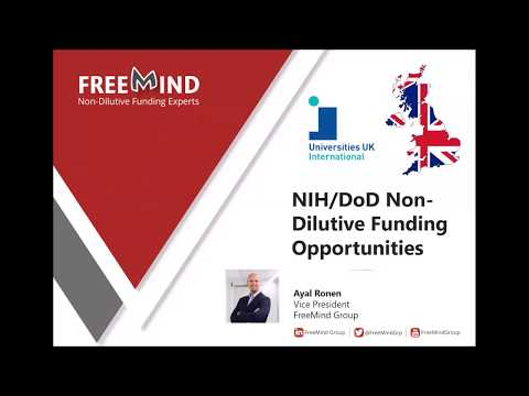 NIH/DoD Funding Opportunities For UK Academics