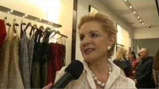 Eglantina Zingg interviews Anna Wintour @ Carolina Herrera Show