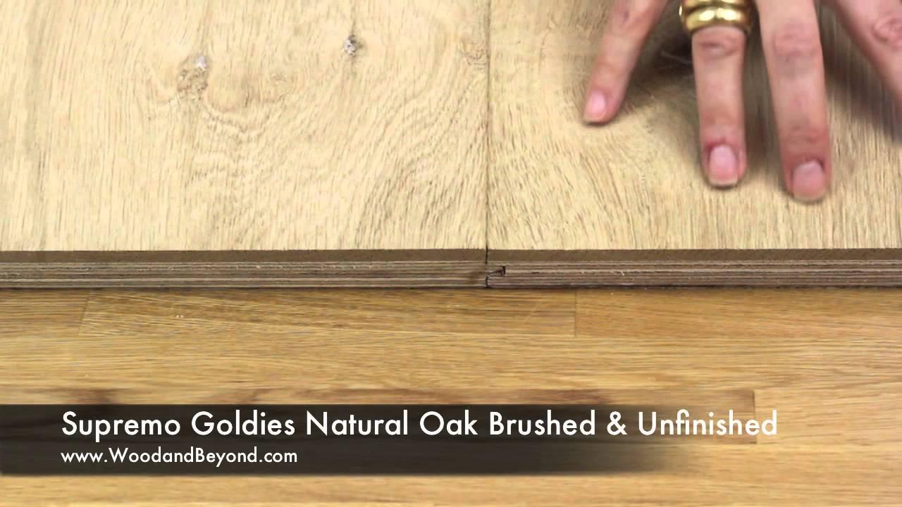 Supremo Gols Engineered Natural Oak Flooring Brushed Unfinished