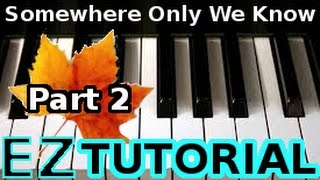 KEANE - Somewhere Only We Know PART 2- PIANO TUTORIAL Video (Learn Online Piano Lessons)