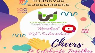 Celebrating 10k Subscriber & Tutorials Website Youtube Families | #WithMe | #StayHome  | #Thankyou