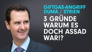 Giftgas in Duma/Syrien: 3 Gründe, warum es vielleicht doch Assad war –Abenteuer in Dummland 6b