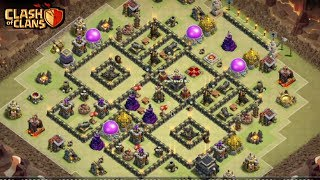 "How To 3 STARS Th9 ""HARD TO FUNNEL"" POPULAR War Base 