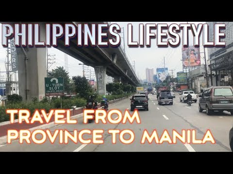 Traveling from Manila Provinces to Quezon City SM North EDSA Mall Philippines