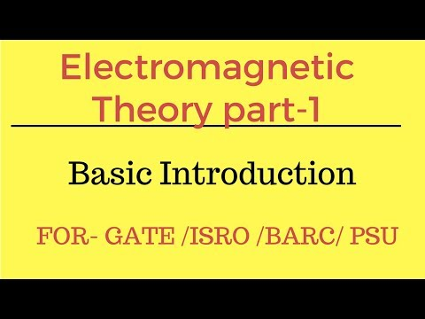 Lec.- 01 electromagnetic theory part-1 basic introduction