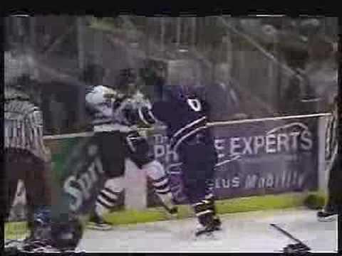 WHL junior hockey fight video