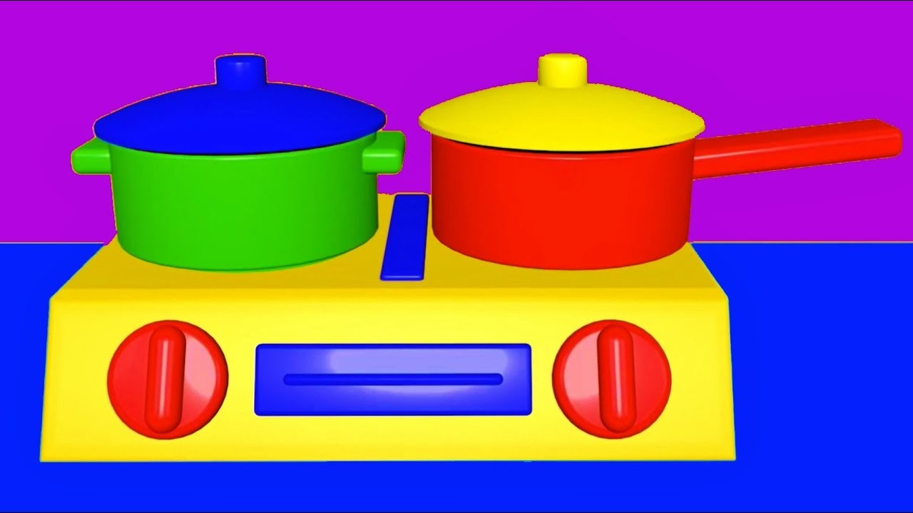 Learn Colors Names Of Vegetables Toy Kitchen Soup Cooking