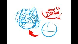 How To Draw Anime & Furry Heads | ART TUTORIAL