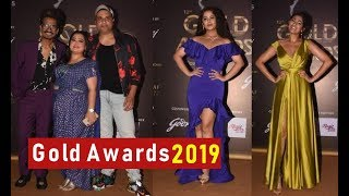 Tv Celebs on Red Carpet Of 12th Gold Awards