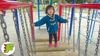 外遊び 公園に遊びに行ったよ❤滑り台やブランコがあったよ! Toy Kids トイキッズ thumbnail