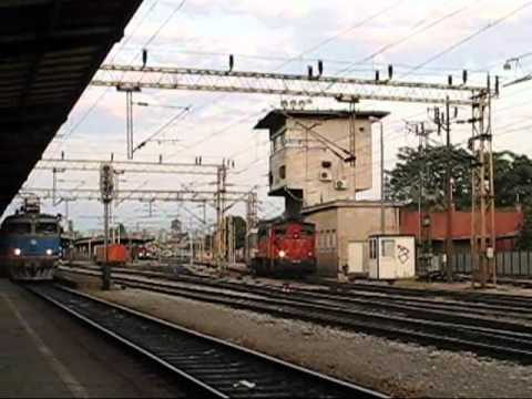 Zagreb's main station Glavni Kolodvor ;  August  24,2010