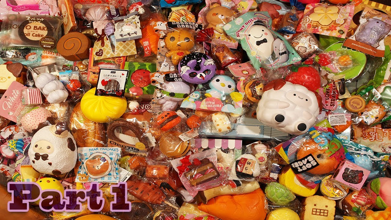 Squishy Collection 2017 : Updated 2017 Squishy Collection! (DETAILED) Part 1 - YouTube