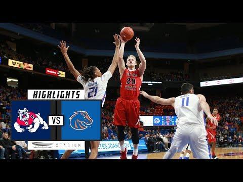 Fresno State vs. Boise State Basketball Highlights (2018-19) | Stadium