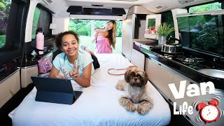 FAMILY VAN LIFE!! Living In A Van For 24 HOURS #1