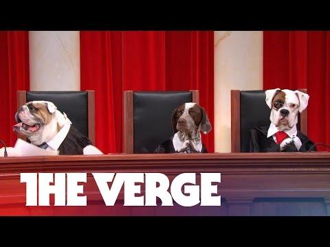 John Oliver's all-dog Supreme Court argues Aereo