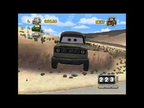 The 3 Tow Trucks Rematch (Tater, Tater Jr And Mater On Team Relay #1 Cars SuperDrive)