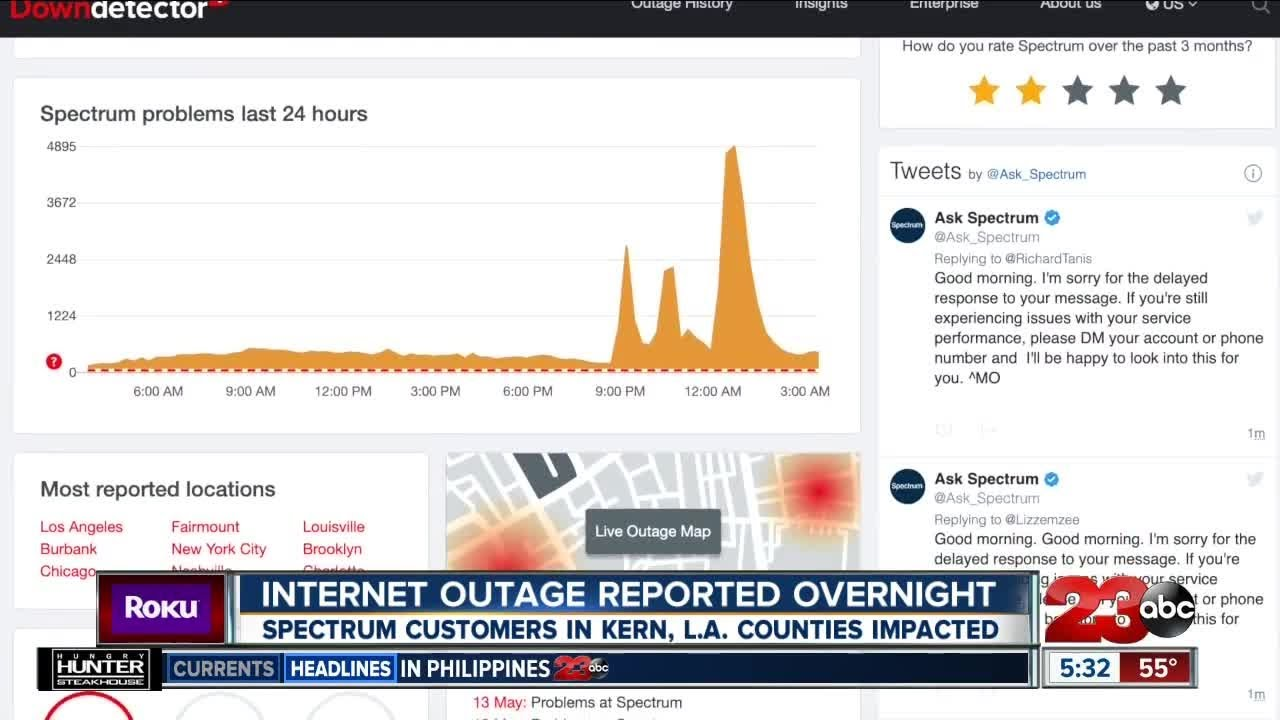 Internet outage reported overnight