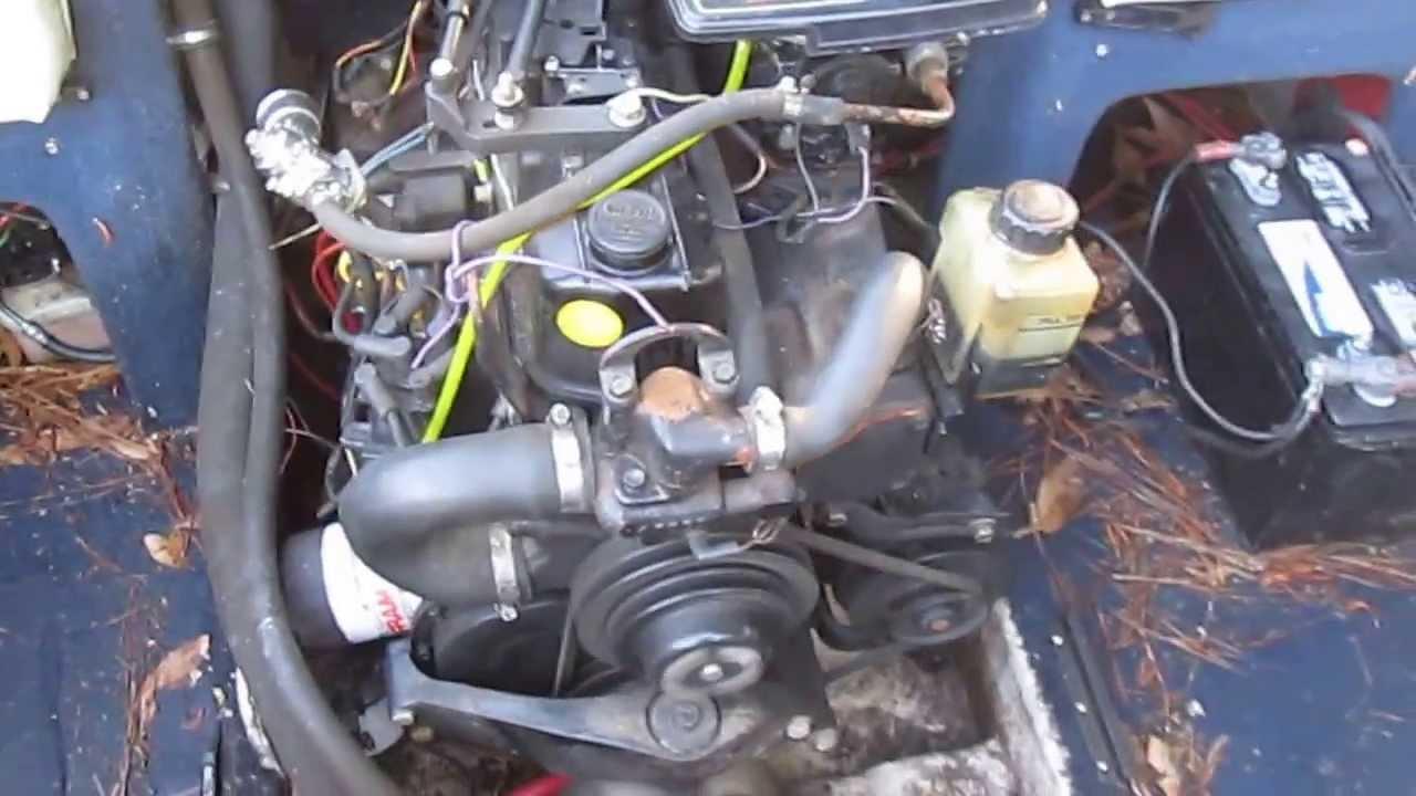 30 MERCRUISER 135 HP 4CYL ENGINE  YouTube