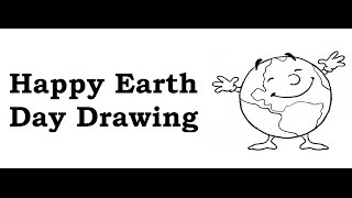 How to draw Happy Earth day drawing | Save Earth poster ideas