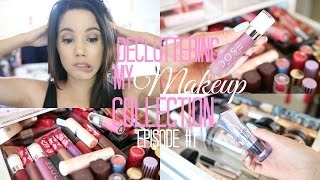 DECLUTTERING MY MAKEUP COLLECTION  | PART 1| LIPSTICKS, HIGHLIGHTS AND BRONZERS | 2016