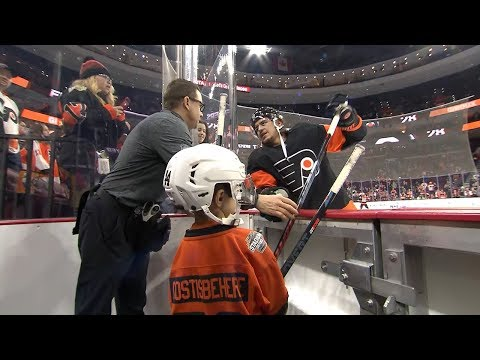 Flyers' Equipment Manager Gets Help From His Son, Elvis
