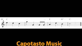 Free easy Christmas flute sheet music, We Wish You A Merry Christmas