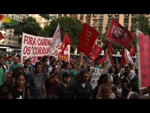 Protest in Rio against transportation costs and the World Cup