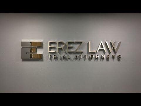 Stainless Steel Metal Lobby Signage  | Jeffrey Erez | Erez Law | Investment and Securities