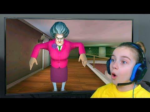 ИГРАЮ в Мисс Ти НА ТЕЛЕКЕ Злая Учительница Scary Teacher 3D