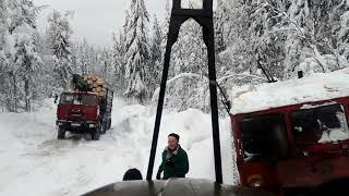 Покатушки за лесом Камазы не едут в подъёмы Опасные лесные дороги