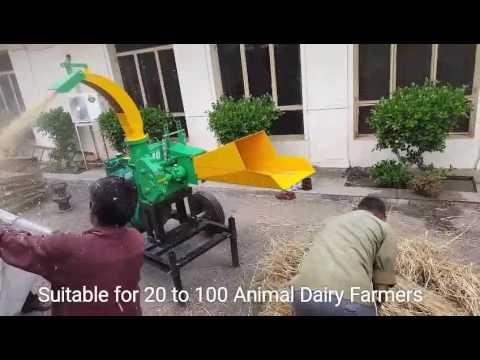 Wheat Straw Fodder chaff cutter Animal feed machine