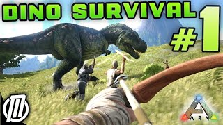 ARK Survival Evolved #1: HUNT DINOSAURS!!! -  Gameplay Live Stream