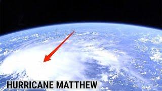 NASA released new satellite footage of Hurricane Matthew