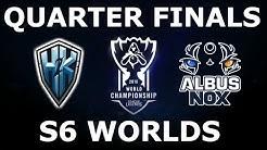 H2K vs ANX - Quarter Finals Full Series S6 LoL eSports World Championship 2016! ANX vs H2K
