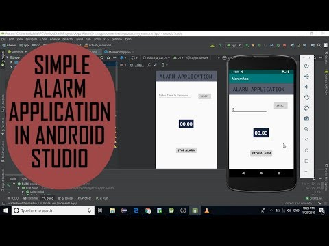 Simple Alarm Application In Android Studio 3.3.0 |Source Code Available|Android Development Tutorial