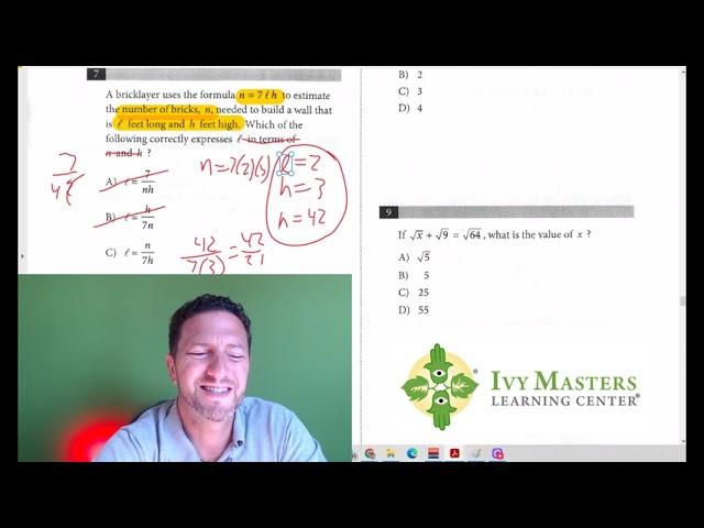 SAT Math, Test 6, Section 3, Number 7