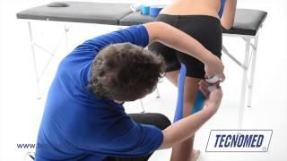 Parte desgarro posterior de la la rodilla muscular en