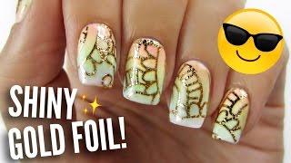 Gold Foil Nail Art?!