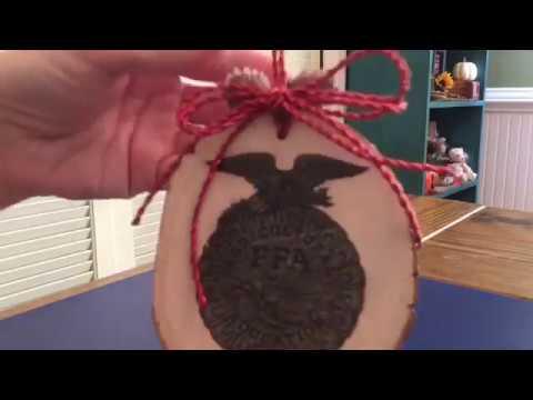 DIY SCHOOL Project for FFA - Wood burning Christmas ornament -