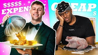 SIDEMEN TRY EXPENSIVE VS CHEAP FOOD!