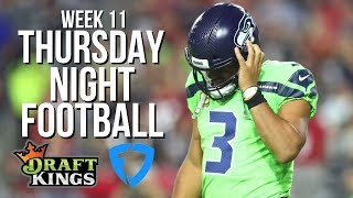 NFL WEEK 11 THURSDAY NIGHT DRAFTKINGS SHOWDOWN LINEUP AND PICKS