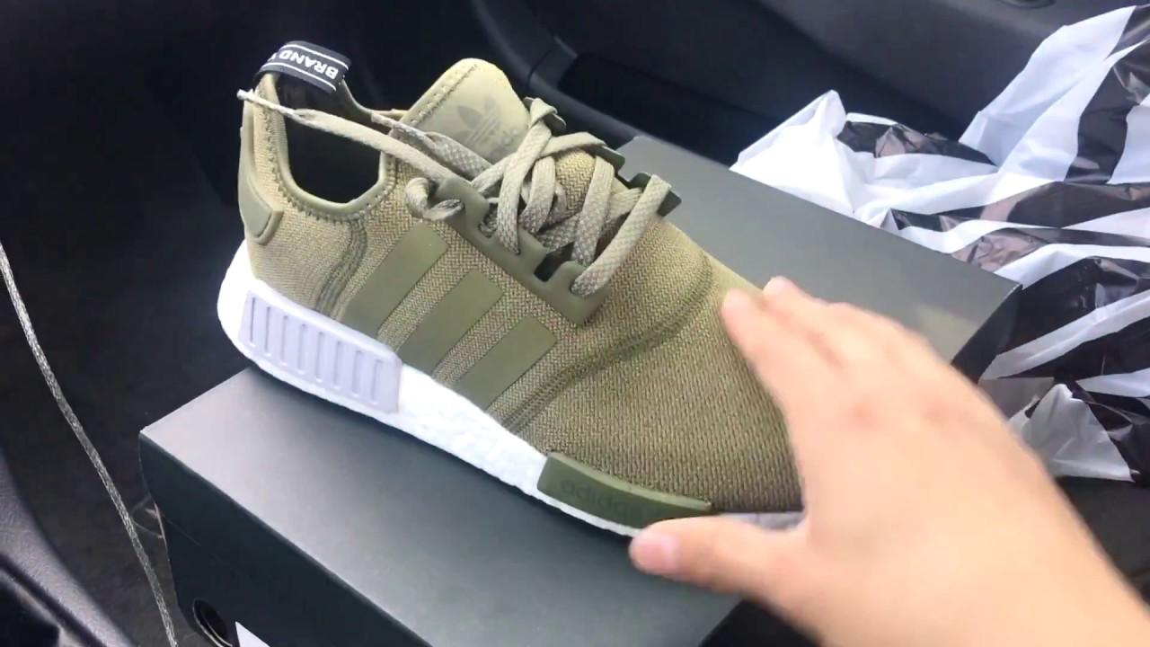 ec132af12 Adidas NMD R1 Olive Review+On Feet - YouTube