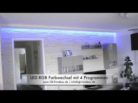 indirekte led rgb beleuchtung aus gkb formteilen von www. Black Bedroom Furniture Sets. Home Design Ideas