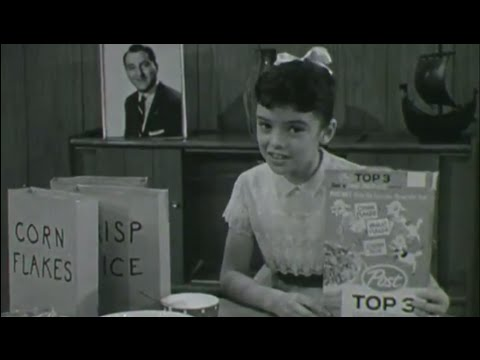Angela Cartwright and Rusty Hamer, Post Top 3 Cereal Commercial