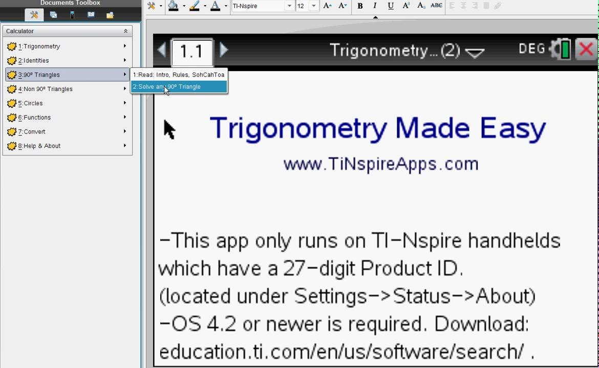 ▷Trigonometry Made Easy - Step by Step ✅ - with the TI