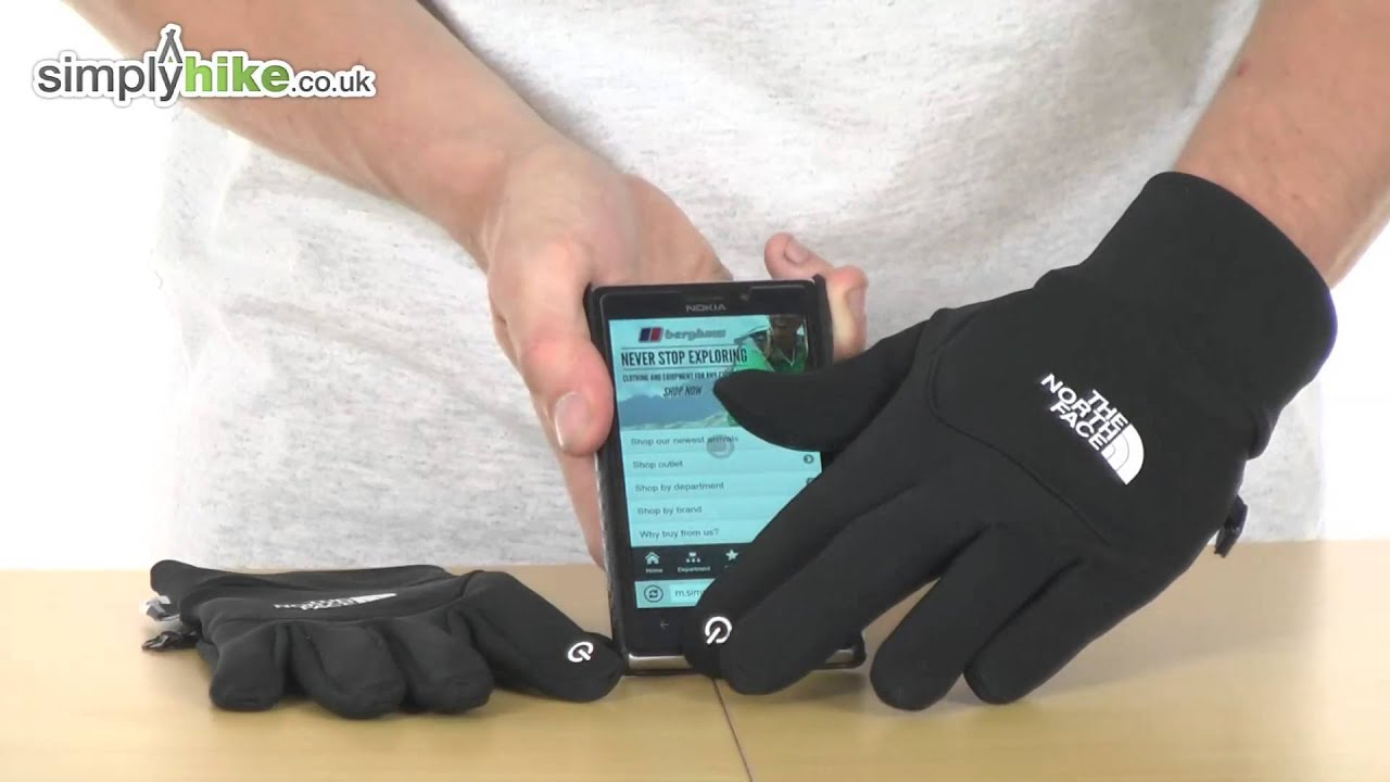 Mens gloves use iphone - The North Face Mens Etip Glove Www Simplyhike Co Uk