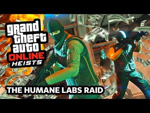 GTA 5 Heists AIRCRAFT CARRIER Raid Gameplay! GTA 5 Humane Lab Heist Walkthrough! (GTA 5 Heist DLC)